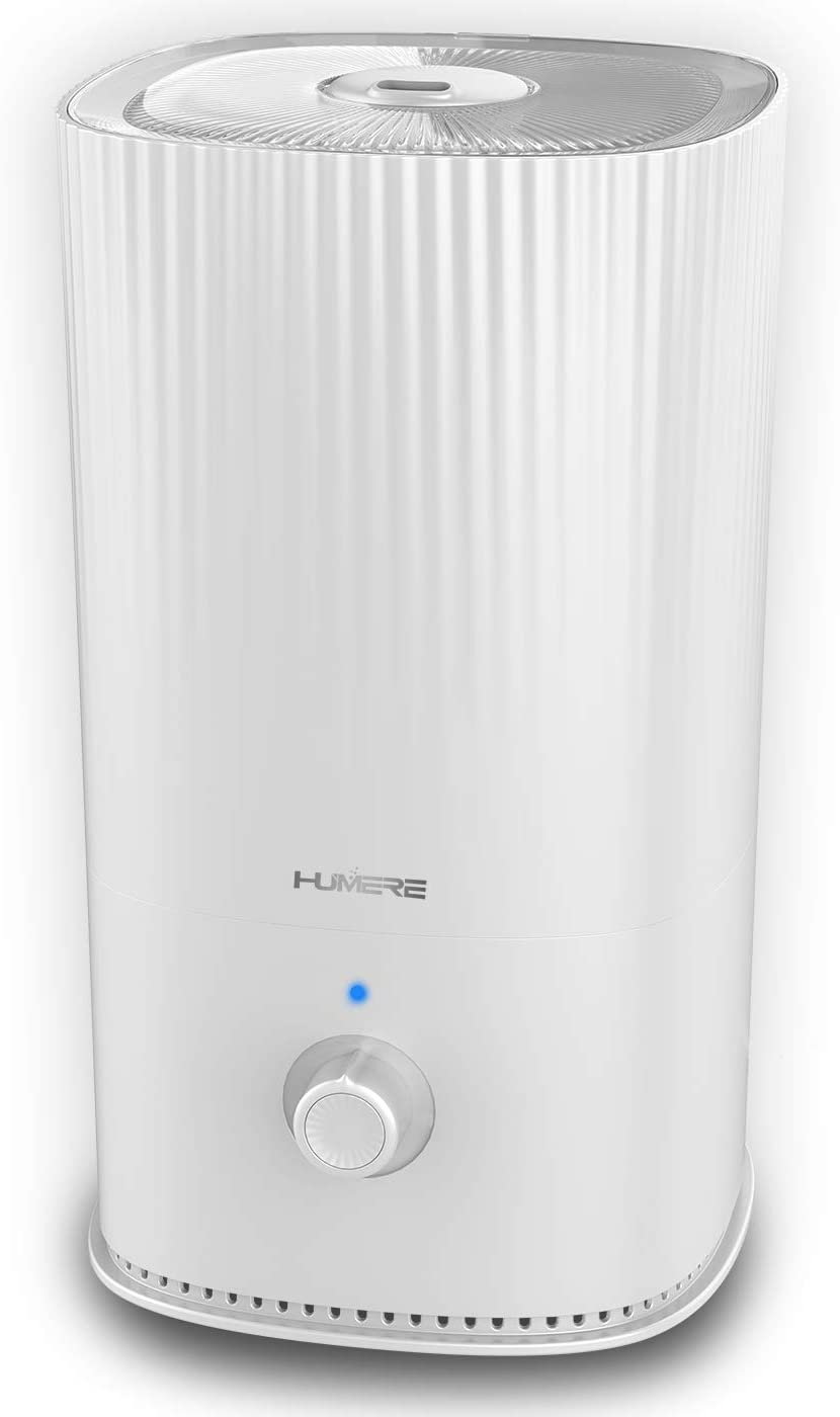 HUMERE Ultrasonic Cool Mist Humidifiers for Bedroom, Large Top Fill Humidifier, Whisper Quiet, Easy to Clean Humidifier with Filter l Baby Humidifier l Auto Shut Off l Essential Oil Diffuser