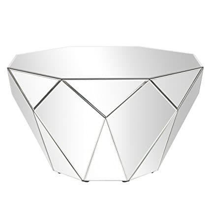 Howard Elliott Collection Faceted Mirrored Accent Table