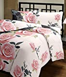 Renown Beautiful Peach Floral Design Reversible Double Bed Quilt / AC Blanket / Dohar ( Pack Of 1 Pc )