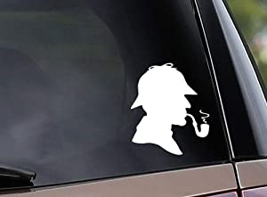 Diuangfoong Sherlock Holmes Inspired Vinyl Car Decal Window Decal Laptop Decal Detective Sleuth Mystery Vinyl Sticker