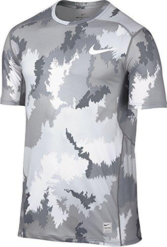 Nike Men's Nike Pro Hypercool Printed Fitted Dri-Fit T-Shirt X-Large White Grey