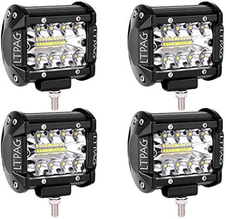 LTPAG 4 Lens LED Work Light Bar CREE Flood Beam Off-Road Driving Light Waterproof LED Fog Lights LED Pods