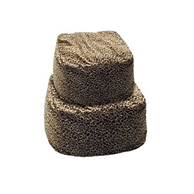 K&H Manufacturing Cuddle Cube Kitty Cat Bed, Round, Leopard