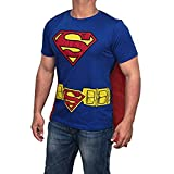 Superman Logo Caped T-Shirt - Mens Costume Shirt with Caped by Miracle