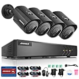 ANNKE 1080P Lite 8 Channel DVR Recorder H.264+ with 960P 4*Cameras Home Security System, Email Alert with Pictures, 100ft Day Night Vision (No HDD Included)