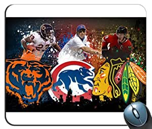 Custom Chicago Sports - Chicago Bears - Chicago Cubs - Blackhawks Mouse Pad g4215