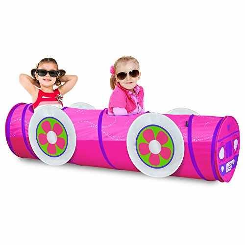 (GigaTent 6 Foot Pop Up Kids Play Tunnel - Train Tunnel Hide and Seek Tube for Babies, Toddlers, Dogs and Pets - Indoor or Outdoor Adventure, Folds Flat, Carrying Bag Included)