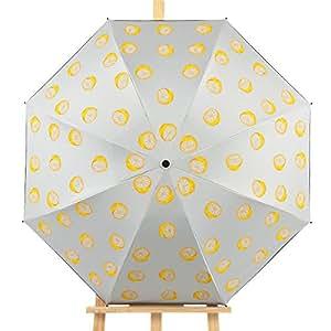 Sasan La Primavera y el Verano Sunscreen sombrilla Paraguas para Anti Ultravioleta Chicle Negro Paraguas impresión limón,Zys176- Beige