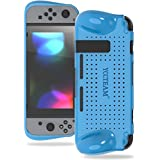 YCCSKY Protective Case for Nintendo Switch, Grip Case with Shock-Absorption and Airflow Design for Nintendo Switch 2017 (Blue)