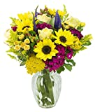 Sunny Summer Days Mixed Bouquet with Free Vase Included