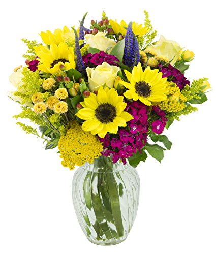 Sunny Summer Days Mixed Bouquet with Free Vase Included by Blooms2Door