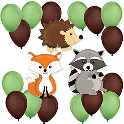 Big Dot of Happiness Woodland Creatures - Baby Shower or Birthday Party Balloon Kits (Original Version): Toys & Games