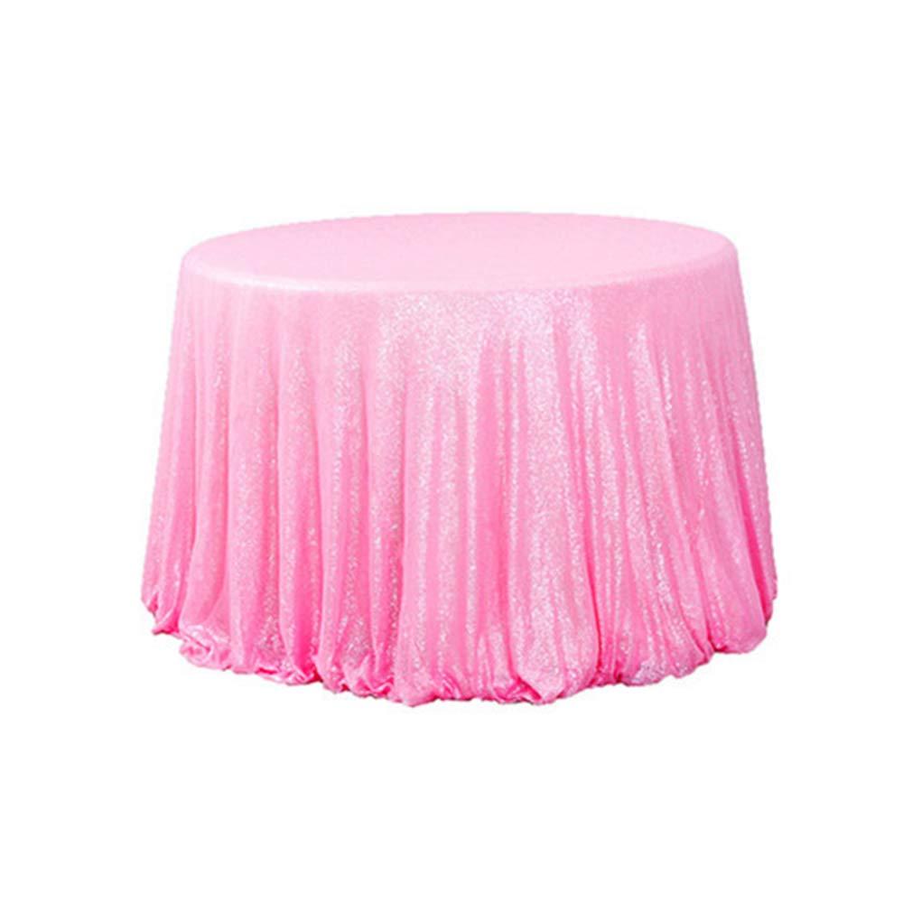 Pleasing Amazon Com Diameter 48 Round Blush Pink Sequin Home Interior And Landscaping Palasignezvosmurscom