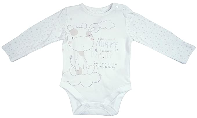 5362e74f7 Baby I Love Mummy   Daddy Long Sleeve Bodysuit Vest Top Sizes from ...