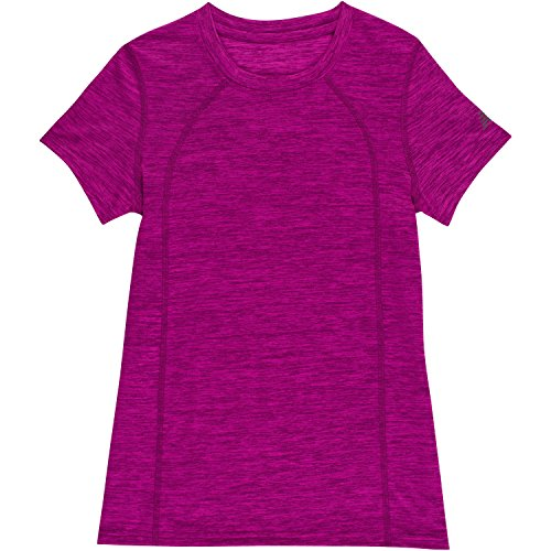 New Balance Girls' Little Short Sleeve Performance Tee, Poison/Multi Cross dye, 6X by New Balance