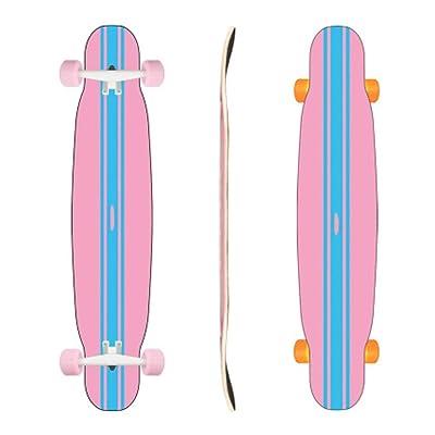Aniseed Skateboards Longboard Cruiser Skateboard Deck Complete Double Flour Blue 9.8-Inch X 46.0-Inch : Sports & Outdoors
