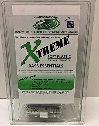 Fusion X - Bass Essentials Premium plástico suave señuelo de pesca Making Starter Kit - 8 - señuelo de moldes y 7 colores de plástico: Amazon.es: Deportes y ...