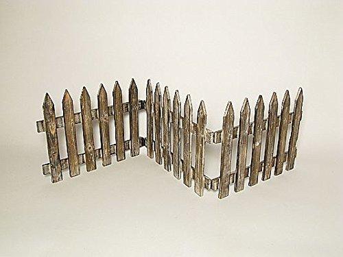 Deko-Zaun Holz-Zaun J/äger-Zaun 3 Zaunelemente a 40 cm zum klappen 30 cm hoch Vintage