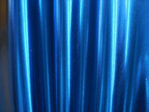 Metallic Spandex Stretch Fabric , 60-Inch, One Piece, Blue The Fabric Exchange