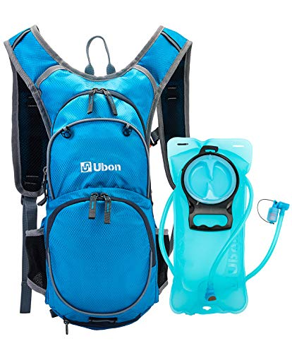 Ubon Outdoor Hydration Backpack with 2L Water Bladder for Running, Hiking,Cycling,Camping