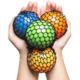 KELZ KIDZ Quality & Durable Mesh Squishy Balls with Exclusive Sewn Mesh! (Multi, 12 Pack)