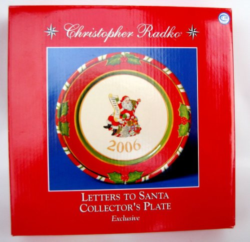 Christopher Radko Letters To Santa Collector's Plate Exclusive Christopher Radko Letters To Santa