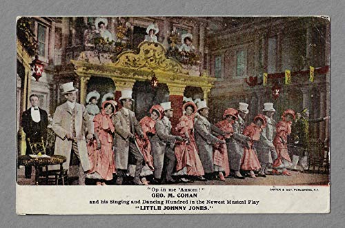 "George M. Cohan""LITTLE JOHNNY JONES"" Ethel Levey/New York Theatre 1905 Broadway Postcard"