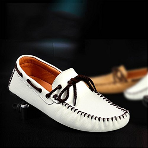 Mens Casual Slip On Boat Shoes Classic Cowskin Loafer Driving Moccasins Shoes 5887 Black IfT6Klu