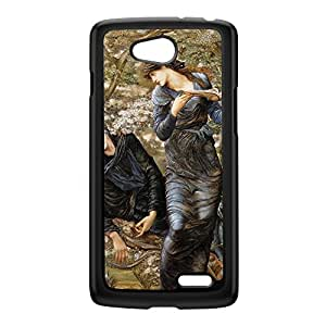 Beguiling of Merlin by Sir Edward Coley Burne-Jones Black Hard Plastic Case for LG L90 by Painting Masterpieces + FREE Crystal Clear Screen Protector