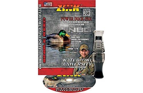 Zink Calls Nothing But Green NBG Gunsmoke Polycarbonate Mallard Duck Call W/ DVD