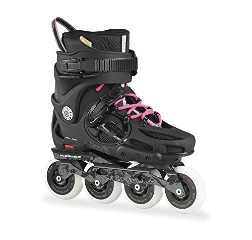 Rollerblade Women's Twister 80 Urban Skate 2015, Black/80s Pink, US 7