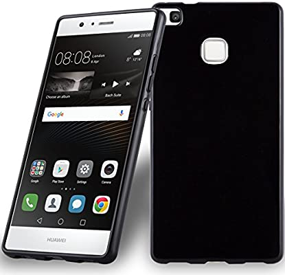 Amazon.com: Cadorabo Case Works with Huawei P9 LITE in Black ...