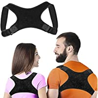 Back Posture Corrector, leegoal Invisible Adjustable Physical Therapy Posture Brace Support for Men or Women - Fix Upper Back, Neck and Shoulder Pain, Improve Poor Posture
