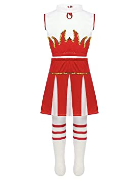 154fb641fde669 iixpin Déguisement de Pom-Pom Girl Fille Costume écoliere Ecole ...