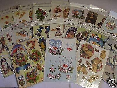 TBZ Card Making Set 3 Packs 3D Decoupage Sheets Cards and Envelopes 823294