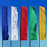 Radiant Heart East Prayer Flags ~ 7.5 Ft. Bhutanese Style ~ Set of 5