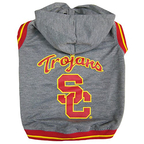 Tee Usc - Pets First College USC Trojans Hoodie Tee Shirt, Medium