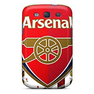 Anti-Scratch Hard Cell-phone Case For Samsung Galaxy S3 With Custom High Resolution Sports Soccer Team Arsenal Fc Pictures KerryParsons