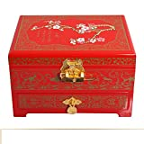vintage jewelry box/Double lacquer Chinese without locking storage box/ storage jewelry box/ wedding gifts-B