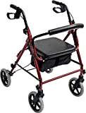 Accela 4 Wheeled Rollator with Extra Wide Base