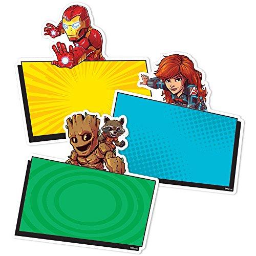 Eureka Back to School Marvel Super Hero Adventure Paper Cut Out Classroom Decorations for Teachers, 36pc, 5.5'' W x 5.5'' H