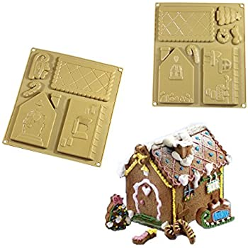 Forvel Silicone Christmas Gingerbread House / Chocolate Baking Mold Kit - Small