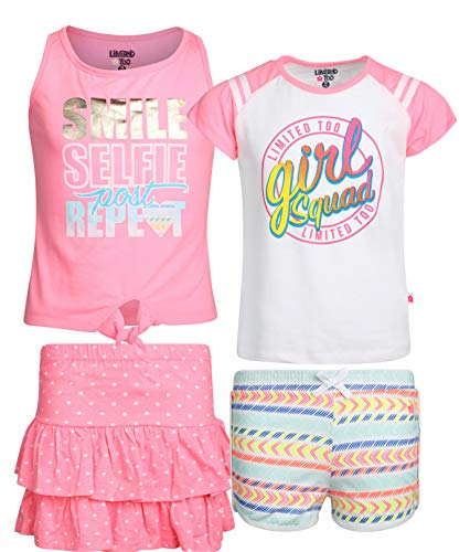 - Limited Too Girls' 4-Piece Fun Summer Short Sets (2 Full Sets), Girl Squad, Size 10'