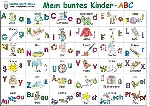 Mein buntes Kinder-ABC (Poster): Amazon.de: Bücher