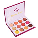 Kaidifangte 12 Color Pink Matte Shimmery Eye Shadow Palette Highly Pigmented Release Heart Yarrow Pink