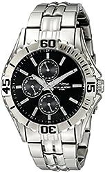 Armitron Men's 20/5071BKSV Multi-Function Dial Silver-Tone Bracelet Watch