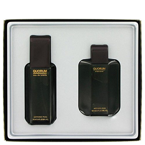 QUORUM by Antonio Puig Gift Set -- 3.3 oz Eau De Toilette Spray + 3.3 oz After Shave for Men