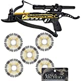 Crossbow Self-Cocking 80 LBS by KingsArchery® with Hunting Scope, and a Total of 123 Aluminim Arrow Bolts + KingsArchery® Warranty