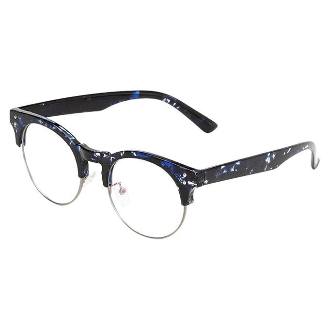b6191efd4f Hzjundasi Filtro de luz Azul Computadora Gafas, Ultraligero TR90 Marco  Vintage Claro Lente Hombre/Mujer Anti-fatiga Previniendo los ojos:  Amazon.es: Ropa y ...