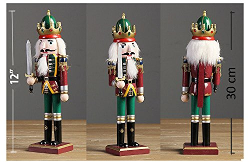 Nutcracker Soldiers Gift Set from Spring Country | Great Decoration Figure Collection to Share a Memory with | Christmas | New Wooden Puppets | 12 inch Toys Holiday Ornament | 4 Pieces Toy Set by Spring Country (Image #2)